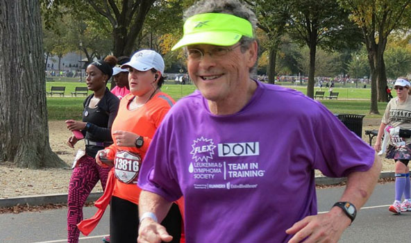 Don Wright 92nd Marathon with Cancer