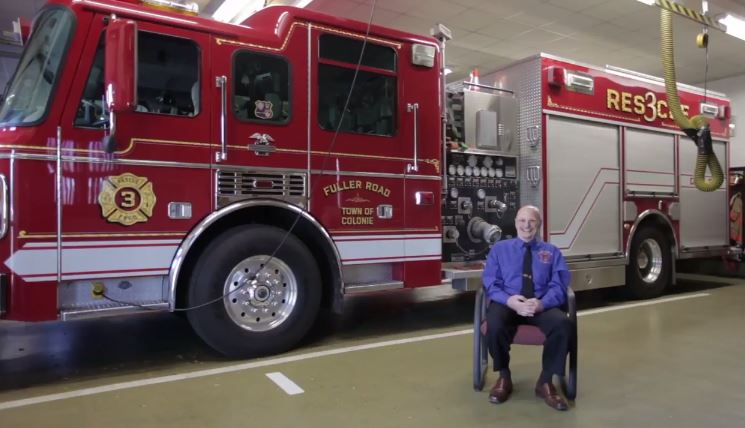 Firefighter George Acker battles high cholesterol