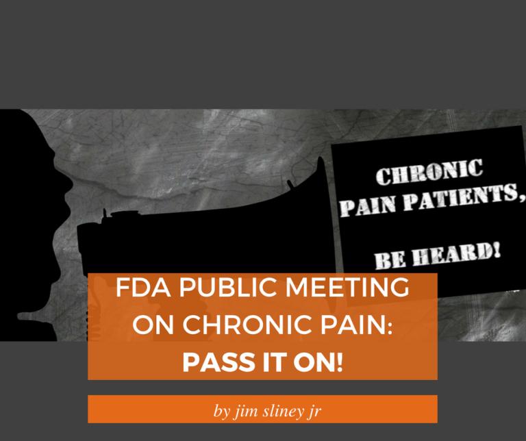 FDA Public Meeting Chronic Pain