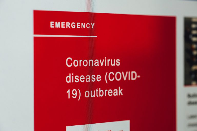 covid-19 emergency sign
